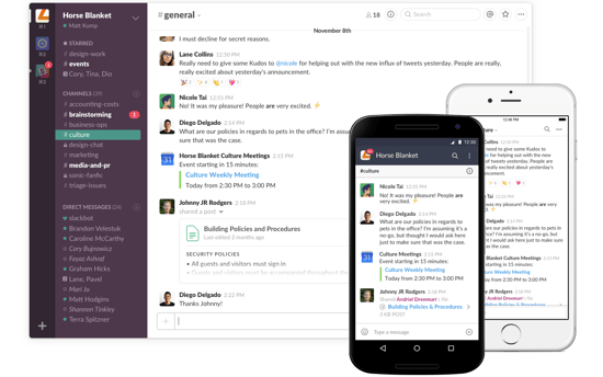 communicate with Slack
